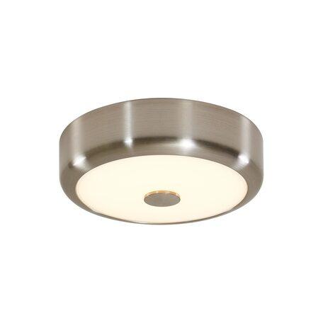 Потолочный светодиодный светильник Citilux Фостер-1 CL706111, LED 15W 3000K 975lm, матовый хром, пластик