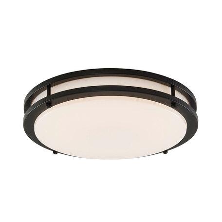 Потолочный светодиодный светильник Citilux Бостон CL709255, IP44, LED 25W 3000K 1800lm, венге, белый, металл, пластик - миниатюра 1