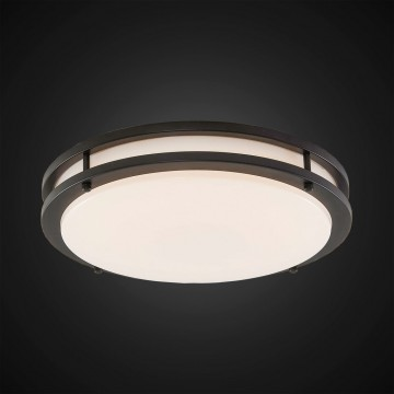 Потолочный светодиодный светильник Citilux Бостон CL709255, IP44, LED 25W 3000K 1800lm, венге, белый, металл, пластик - миниатюра 2