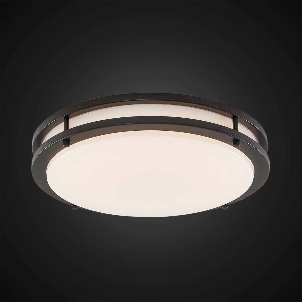 Потолочный светодиодный светильник Citilux Бостон CL709255, IP44, LED 25W 3000K 1800lm, венге, белый, металл, пластик - фото 2
