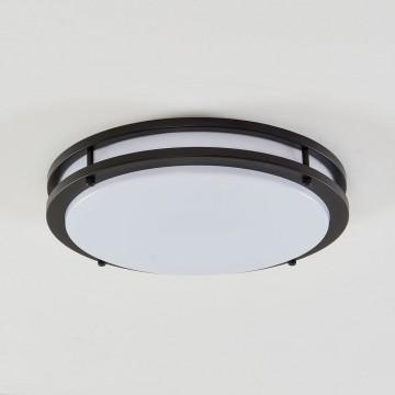 Потолочный светодиодный светильник Citilux Бостон CL709255, IP44, LED 25W 3000K 1800lm, венге, белый, металл, пластик - миниатюра 3