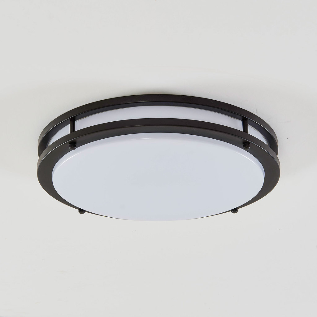 Потолочный светодиодный светильник Citilux Бостон CL709255, IP44, LED 25W 3000K 1800lm, венге, белый, металл, пластик - фото 3