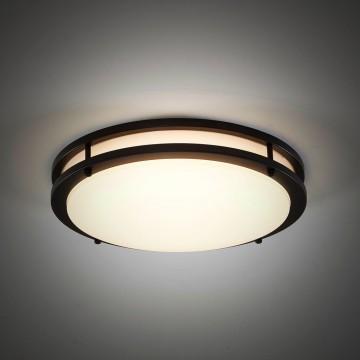 Потолочный светодиодный светильник Citilux Бостон CL709255, IP44, LED 25W 3000K 1800lm, венге, белый, металл, пластик - миниатюра 4