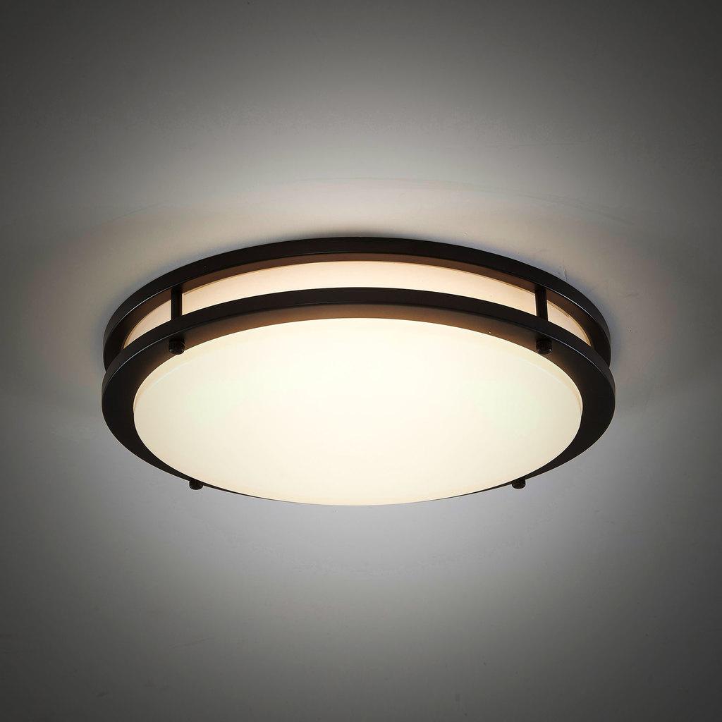 Потолочный светодиодный светильник Citilux Бостон CL709255, IP44, LED 25W 3000K 1800lm, венге, белый, металл, пластик - фото 4