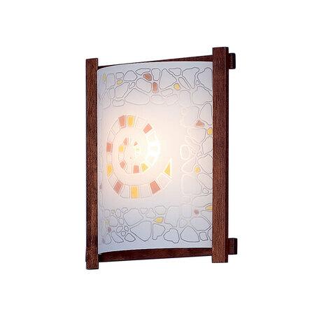 Настенный светильник Citilux Улитка CL921111R, 1xE27x100W, коричневый, разноцветный, дерево, стекло