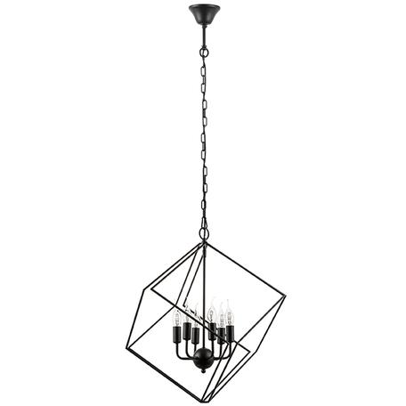 Подвесная люстра Lightstar Gabbia 732367, 6xE14x40W, черный, металл