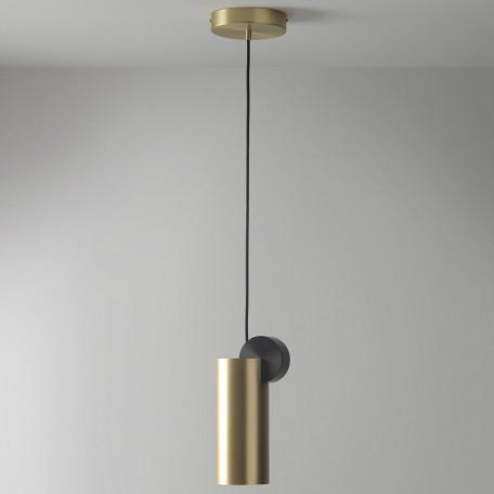 Подвесной светодиодный светильник LUSTRAM Calée 16 CALE PENDANT V3 16, LED, матовое золото, черный, металл