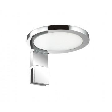 Мебельный светодиодный светильник Ideal Lux TOY AP1 ROUND 156491, IP44, хром, металл, пластик