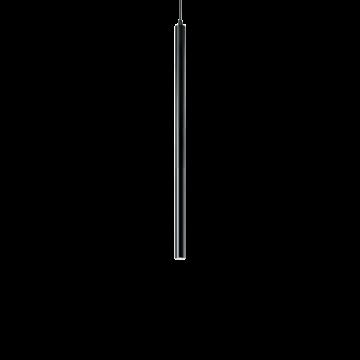 Подвесной светодиодный светильник Ideal Lux ULTRATHIN D040 ROUND NERO 156699 (ULTRATHIN SP1 SMALL ROUND NERO), LED 12W 3000K 760lm, черный, металл