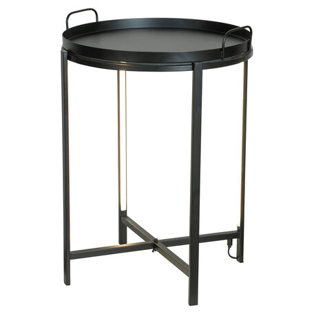 Стол с подсветкой Lussole Loft Seattle LSP-0565-M, IP21, LED 10W 3000K 270lm, черный, металл