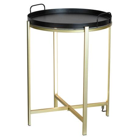 Стол с подсветкой Lussole Loft Seattle LSP-0566-M, IP21, LED 10W 3000K 270lm, бронза с черным, черный с бронзой, металл