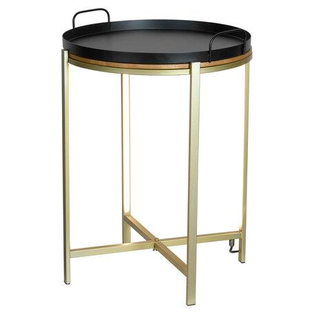 Стол с подсветкой Lussole Loft Seattle LSP-0567-M, IP21, LED 10W 3000K 270lm, бронза с черным, черный с бронзой, металл