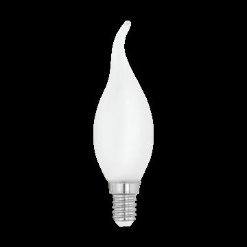 Филаментная светодиодная лампа Eglo 11603 свеча на ветру E14 4W, 2700K (теплый), гарантия 5 лет