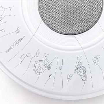 Музыкальный потолочный светодиодный светильник с пультом ДУ Citilux Старлайт CL703M50A, IP21, LED 60W 3000-4200K + RGB 3500lm, белый, металл, пластик - миниатюра 3