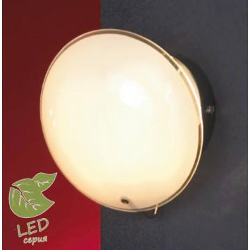Настенный светильник Lussole Loft Mattina GRLSQ-4301-01, IP21, 1xG9x5W, хром, белый, металл, стекло