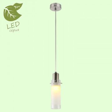 Подвесной светильник Lussole LGO Leinell GRLSP-9982, IP21, 1xE14x6W, никель, белый, металл, стекло