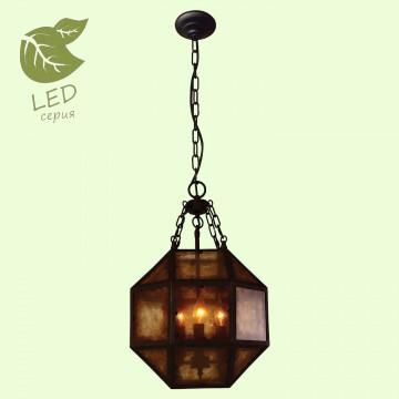 Подвесной светильник Lussole Loft Newburgh GRLSP-9894, IP21, 3xE14x7W, коричневый, металл, стекло