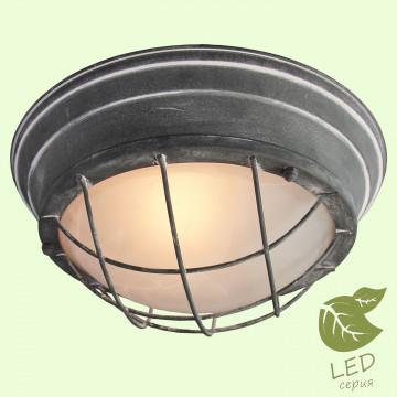 Потолочный светильник Lussole Loft Brentwood GRLSP-9881, IP21, 2xE27x10W, серый, металл со стеклом