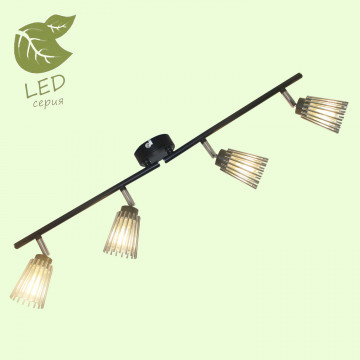 Потолочный светильник Lussole LGO Avondale GRLSP-9901, IP21, 4xG9x5W, черный, хром, металл