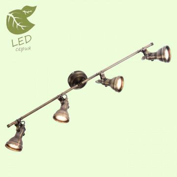 Потолочный светильник Lussole Loft Colorado GRLSP-9960, IP21, 4xGU10x5,5W, бронза, металл