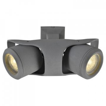 Потолочный светильник с регулировкой направления света Lussole Loft Dakota GRLSP-9939, IP21, 2xGU10x5,5W, серый, металл