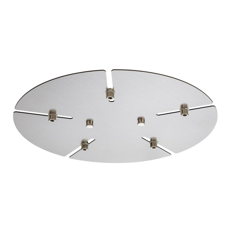 База для подвесного монтажа светильника Crystal Lux Потолочная база D350-5 NICKEL 0990/031, никель, металл