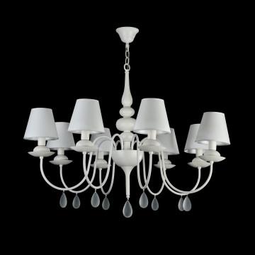 Подвесная люстра Freya Eliza FR5756-PL-08-W, 8xE14x40W, белый, металл, текстиль, стекло - миниатюра 3