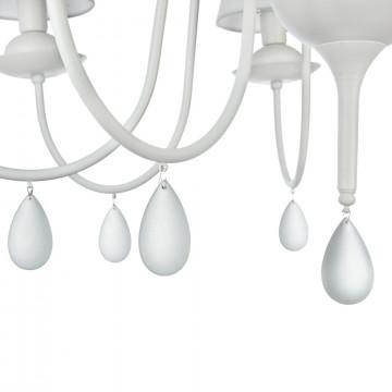 Подвесная люстра Freya Eliza FR5756-PL-08-W, 8xE14x40W, белый, металл, текстиль, стекло - миниатюра 7