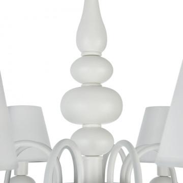 Подвесная люстра Freya Eliza FR5756-PL-08-W, 8xE14x40W, белый, металл, текстиль, стекло - миниатюра 8