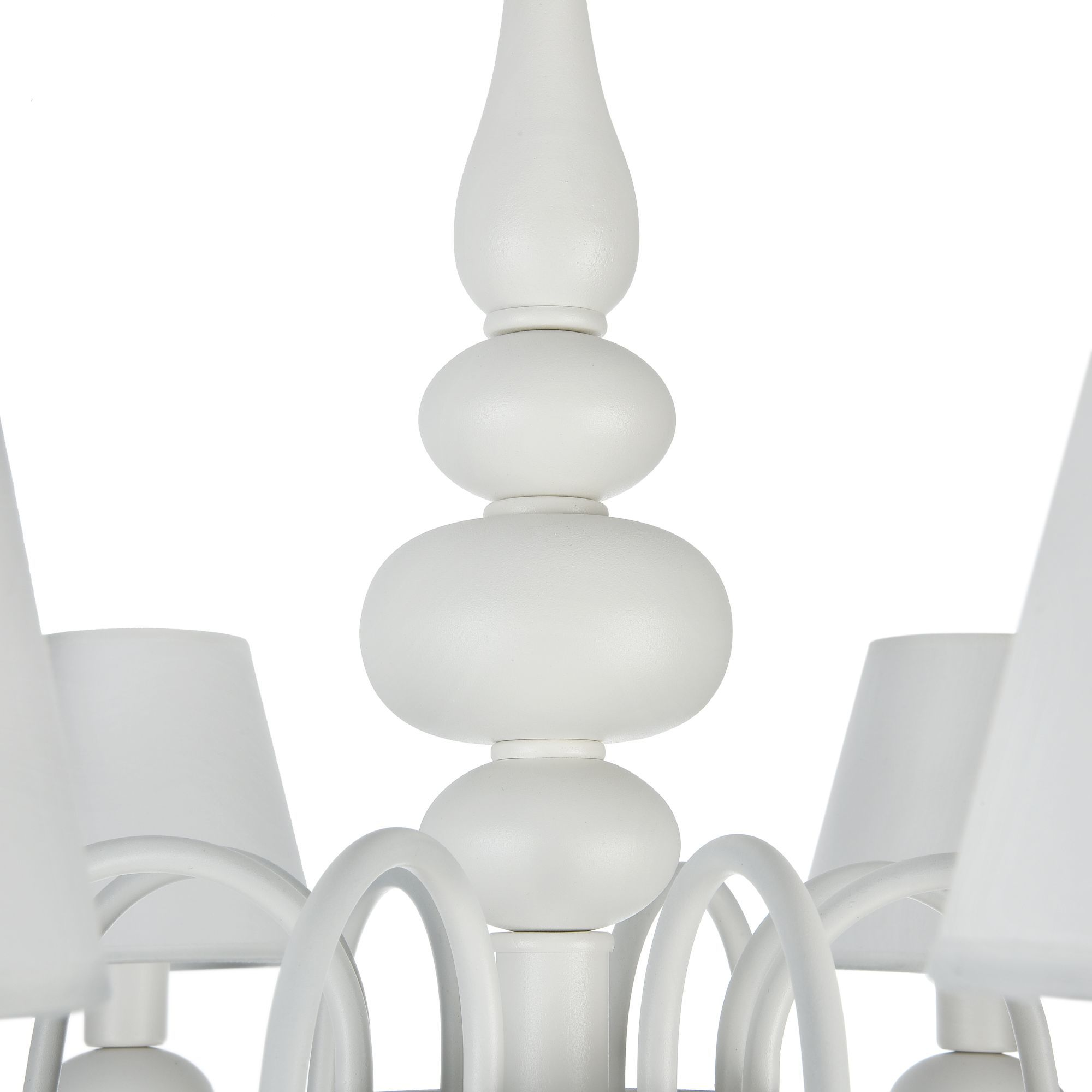 Подвесная люстра Freya Eliza FR5756-PL-08-W, 8xE14x40W, белый, металл, текстиль, стекло - фото 8