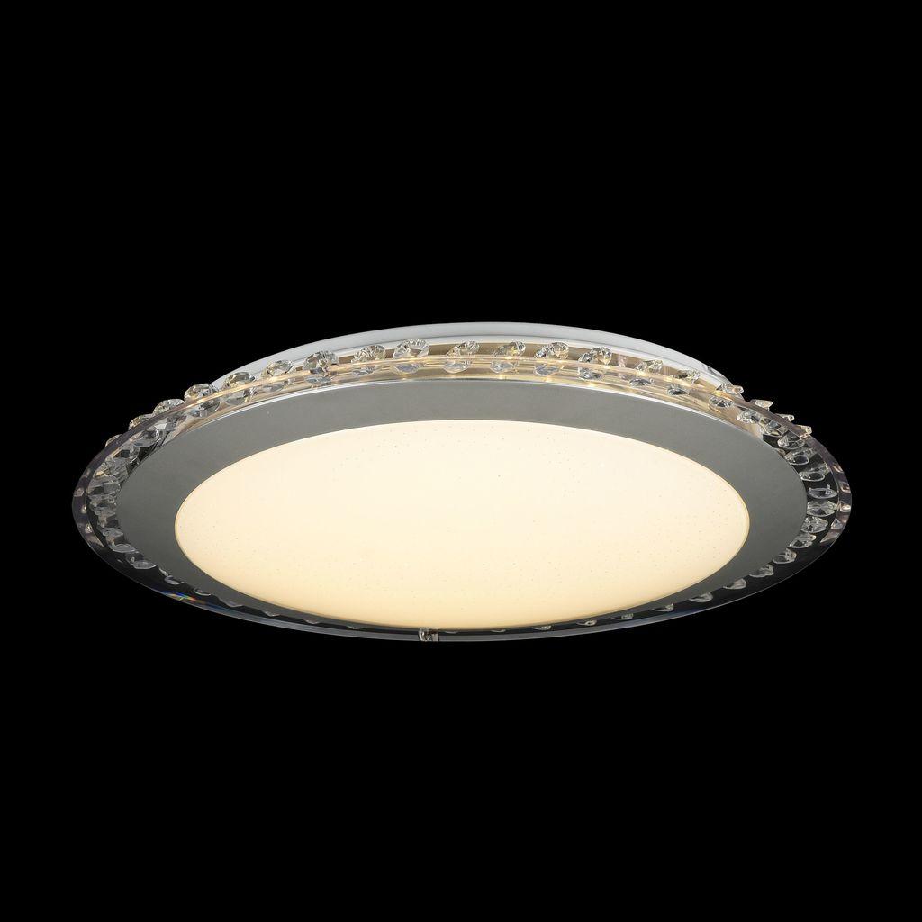 Потолочный светодиодный светильник Freya Glory FR6441-CL-18-W (fr441-18-w), LED 18W, 3000K (теплый), никель, белый, серый, металл, пластик - фото 2