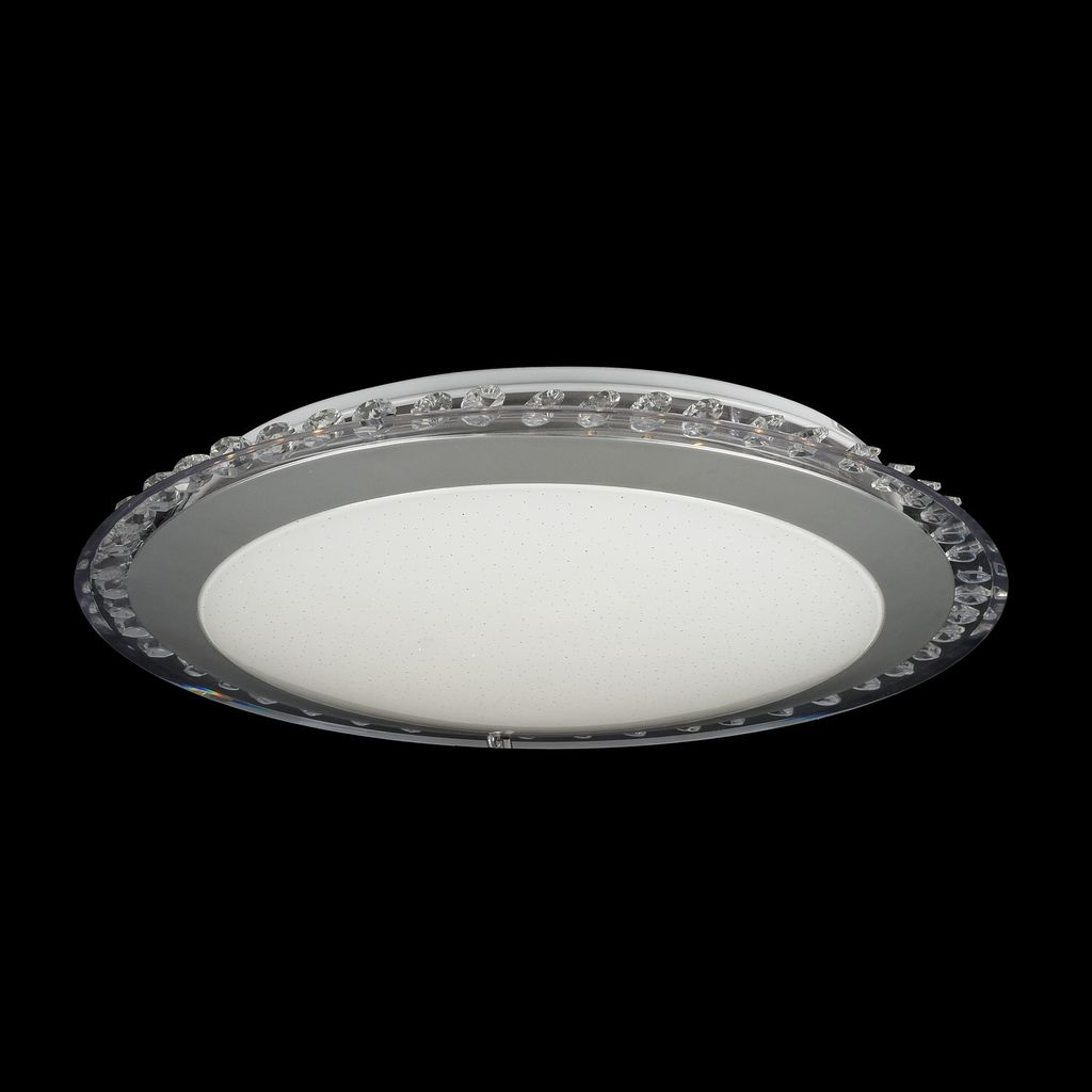 Потолочный светодиодный светильник Freya Glory FR6441-CL-18-W (fr441-18-w), LED 18W, 3000K (теплый), никель, белый, серый, металл, пластик - фото 3