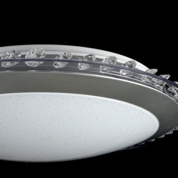 Потолочный светодиодный светильник Freya Glory FR6441-CL-18-W (fr441-18-w), LED 18W, 3000K (теплый), никель, белый, серый, металл, пластик - миниатюра 5