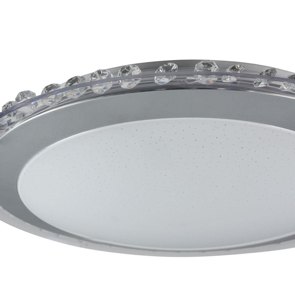 Потолочный светодиодный светильник Freya Glory FR6441-CL-18-W (fr441-18-w), LED 18W, 3000K (теплый), никель, белый, серый, металл, пластик - фото 6