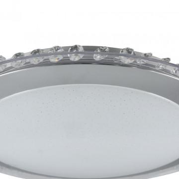 Потолочный светодиодный светильник Freya Glory FR6441-CL-18-W (fr441-18-w), LED 18W, 3000K (теплый), никель, белый, серый, металл, пластик - миниатюра 7