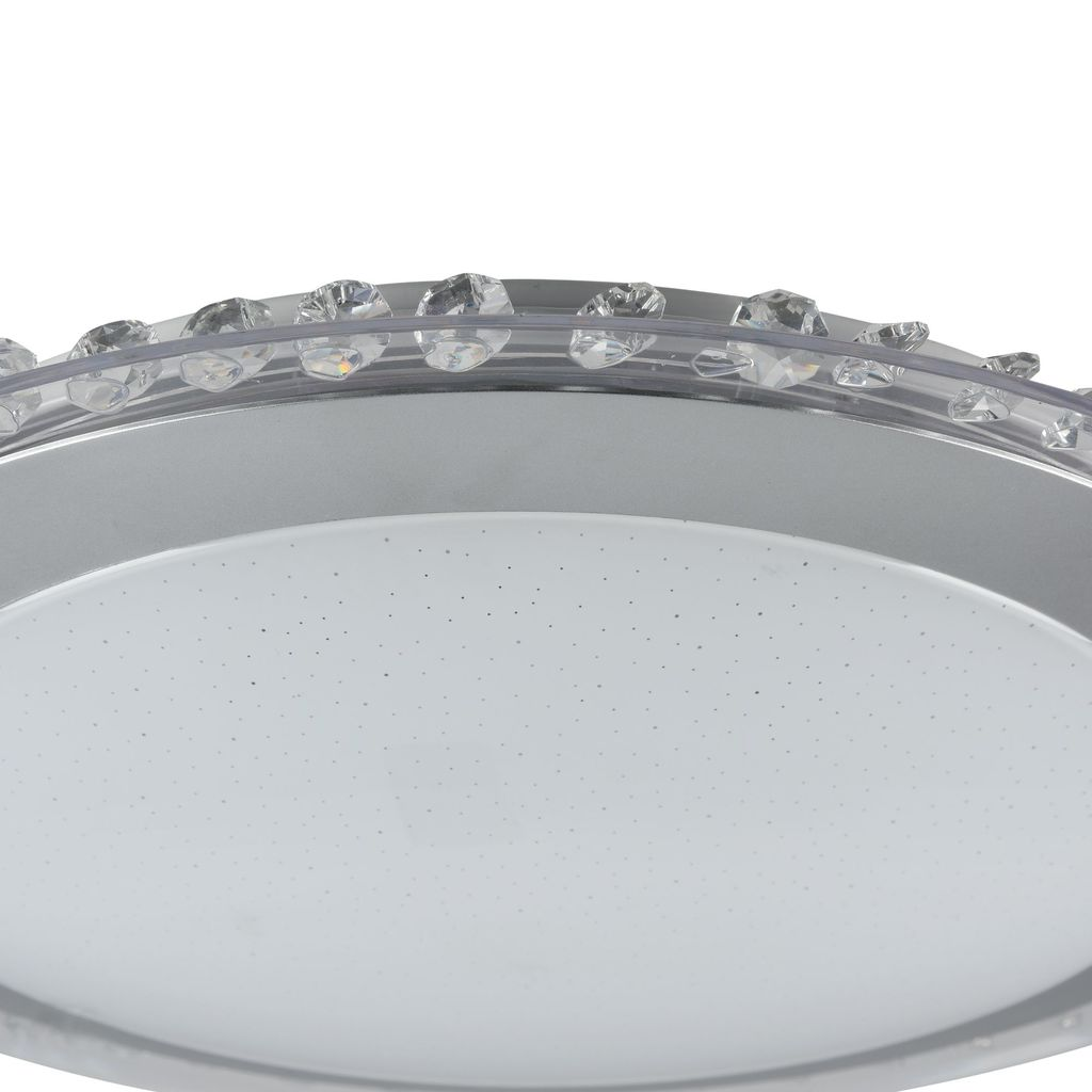 Потолочный светодиодный светильник Freya Glory FR6441-CL-18-W (fr441-18-w), LED 18W, 3000K (теплый), никель, белый, серый, металл, пластик - фото 7