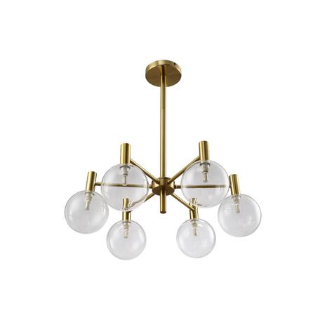Светильник Crystal Lux ANDRES SP6 BRONZE/TRANSPARENTE 0140/306, 6xG9x7W