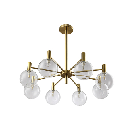 Светильник Crystal Lux ANDRES SP8 BRONZE/TRANSPARENTE 0140/308, 8xG9x7W