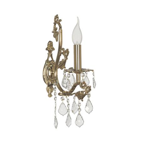 Бра Dio D'Arte Sorrento E 2.1.1.600 G, 1xE14x40W, золото, прозрачный, металл, хрусталь