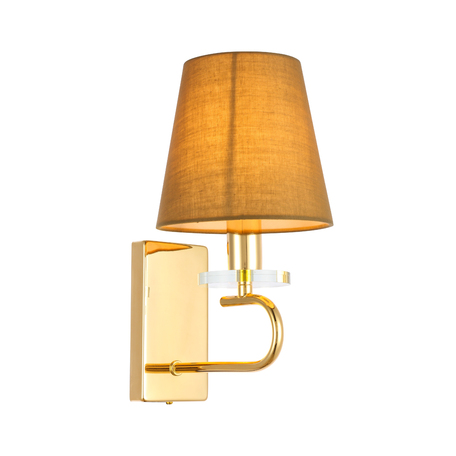 Бра Evoluce Escalla SL1139.201.01, 1xE14x40W, золото, бежевый, металл со стеклом, текстиль