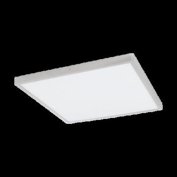 Потолочный светодиодный светильник Eglo Fueva 1 97553, LED 27W 3000K 3200lm, серебро, металл с пластиком, пластик