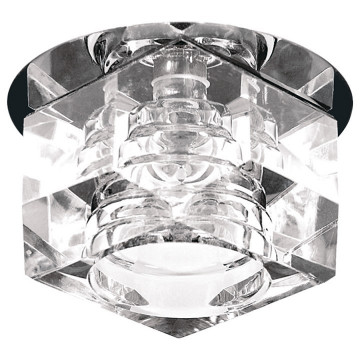 Встраиваемый светильник Lightstar Romb 004060R, 1xG4x35W, хром, прозрачный, металл, стекло
