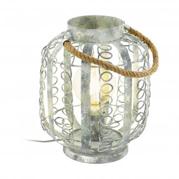 Настольная лампа Eglo Trend & Vintage Cottage Chic Hagley 49134, 1xE27x60W, бежевый, канат, металл