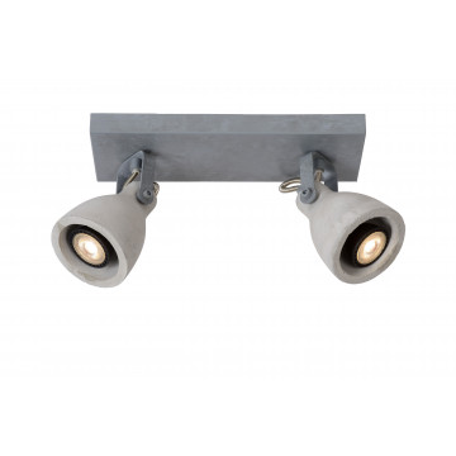 Потолочный светильник с регулировкой направления света Lucide Concri-LED 05910/10/36, 2xGU10x5W, серый, бетон