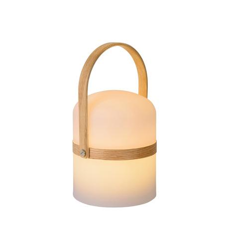 Садовый светодиодный светильник Lucide Joe 06800/03/31, IP44, LED 3W 2800K 278lm, белый, коричневый, дерево, пластик