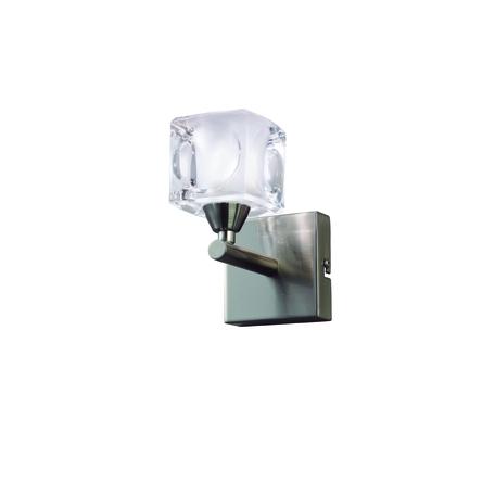 Бра Mantra Cuadrax 0004029, никель, матовый, прозрачный, металл, стекло