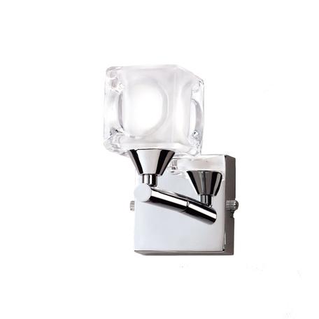 Бра Mantra Cuadrax 0952, хром, прозрачный, металл, стекло