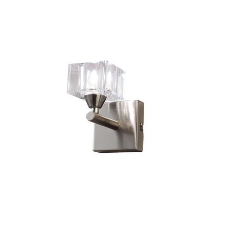 Бра Mantra Cuadrax 1112, никель, матовый, прозрачный, металл, стекло