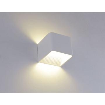 Настенный светодиодный светильник Crystal Lux CLT 010W100 WH 1400/400, LED 3W 4000K 406lm CRI>80, белый, металл