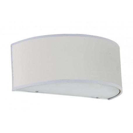 Настенный светильник Crystal Lux JEWEL AP1 WH 2110/401, 1xE27x60W, хром, белый, металл, текстиль